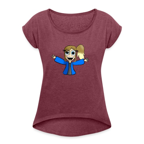 Dashie!(without name) - Women's T-Shirt with rolled up sleeves