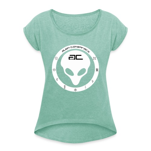 Alien Conspiracy - Camiseta con manga enrollada mujer
