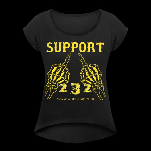 SUPPORT1 - Women's T-Shirt with rolled up sleeves
