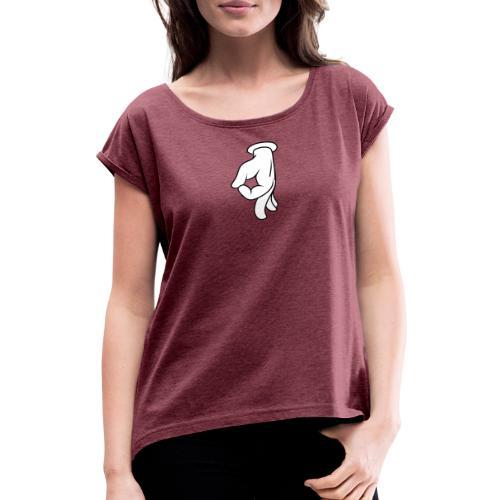 Arschloch - Frauen T-Shirt mit gerollten Ärmeln