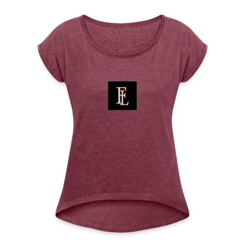Fast Life - Vrouwen T-shirt met opgerolde mouwen