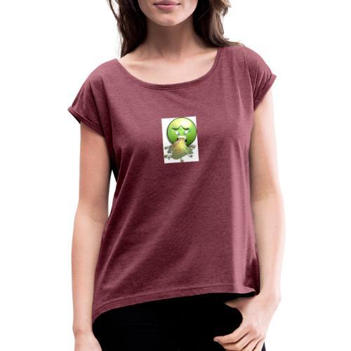 Mensch ist Mensch - Frauen T-Shirt mit gerollten Ärmeln