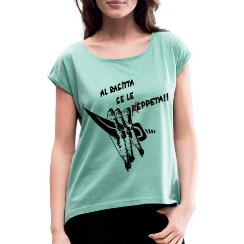 Espeto - Camiseta con manga enrollada mujer