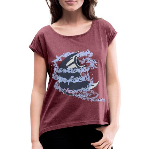 Tourbillon Raie Manta - T-shirt à manches retroussées Femme