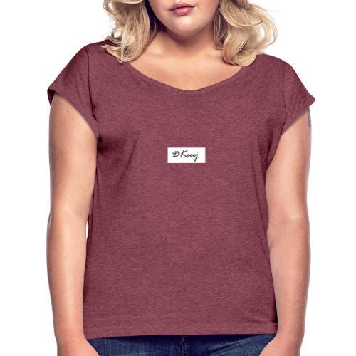 DKeeej 2020 Collection - Frauen T-Shirt mit gerollten Ärmeln