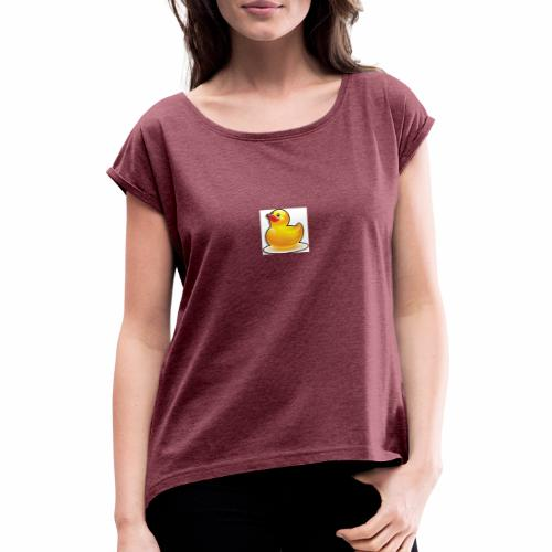 BFTS96 DUCKS CURRENT LOGO - Women's T-Shirt with rolled up sleeves