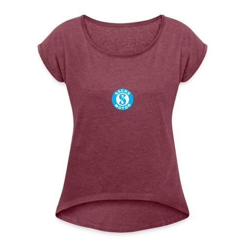 Sachs motor logo 64180DB34A seeklogo com - T-skjorte med rulleermer for kvinner