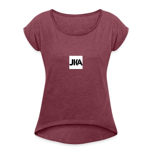 official jka hoodies - Women's T-Shirt with rolled up sleeves