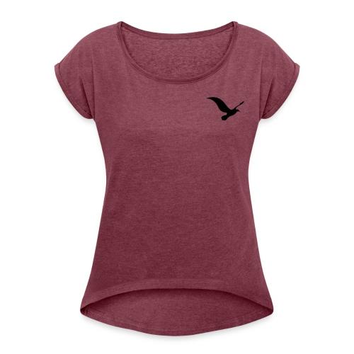 logo 3 - Dame T-shirt med rulleærmer