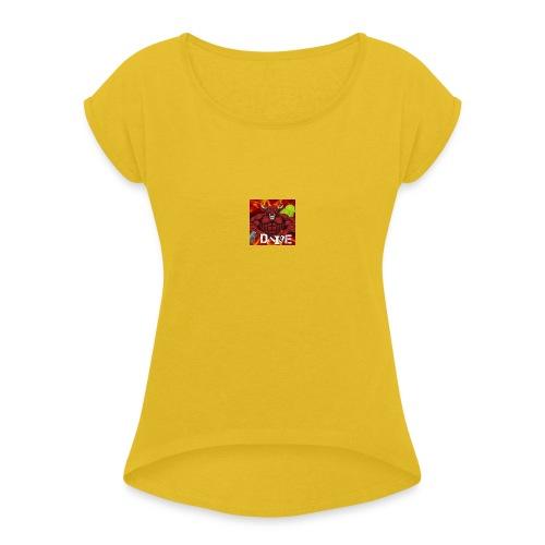 devile-logo - T-shirt à manches retroussées Femme