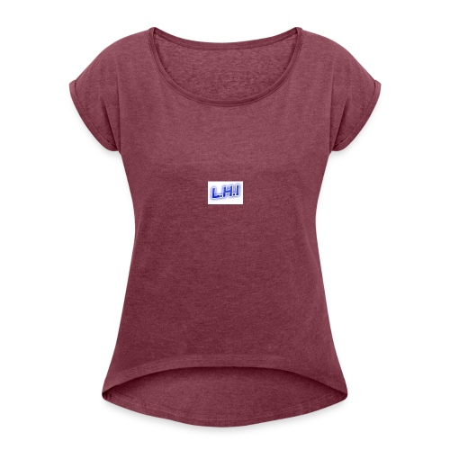 6E052302 EFBA 4E09 A589 E0EE406EFE13 - Women's T-Shirt with rolled up sleeves