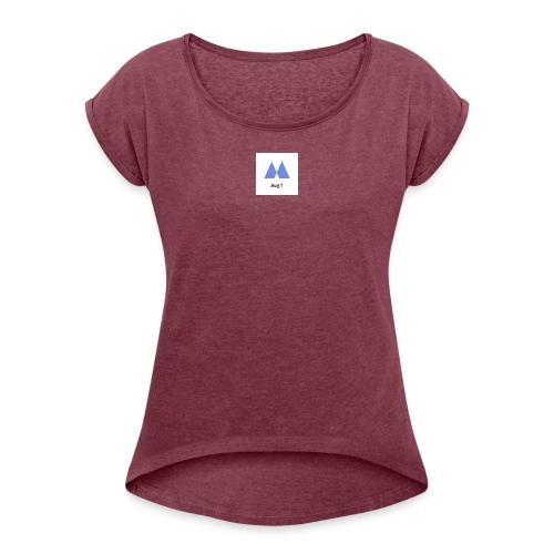 Augi - Dame T-shirt med rulleærmer