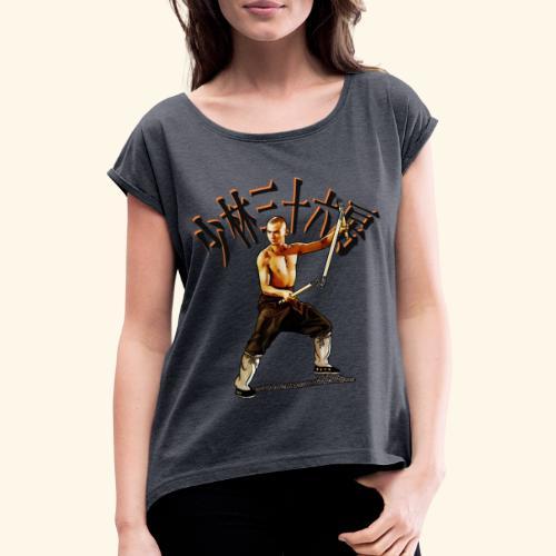 Shaolin Warrior Monk - 3 afdeling personale - Dame T-shirt med rulleærmer