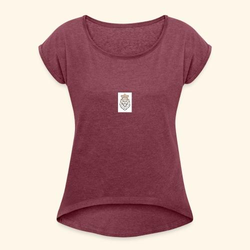 loewe design - Frauen T-Shirt mit gerollten Ärmeln