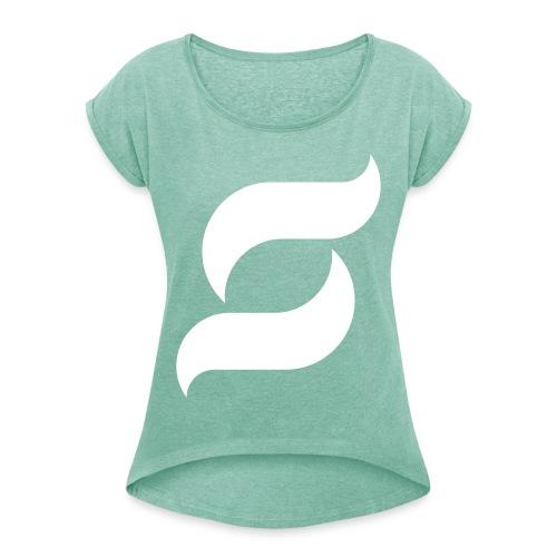 Samy Inc - Frauen T-Shirt mit gerollten Ärmeln