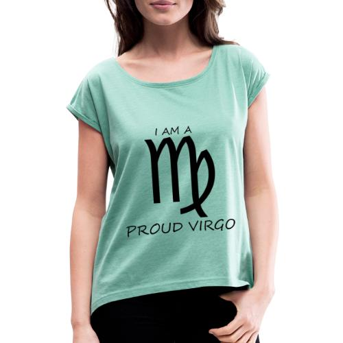 VIRGO - Women's T-Shirt with rolled up sleeves