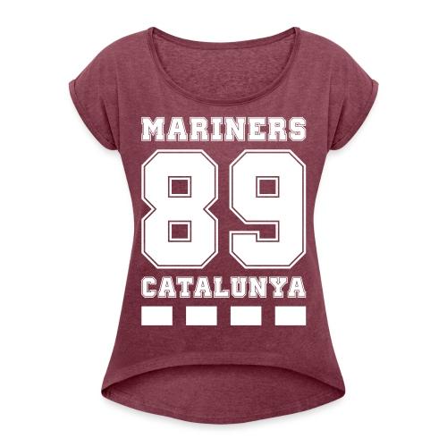 MarinersCatalunya White - Camiseta con manga enrollada mujer