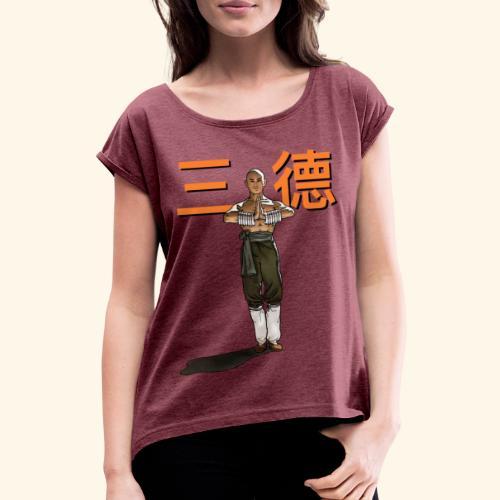 Gordon Liu - San Te - Monk ( Official) 9 dots - Vrouwen T-shirt met opgerolde mouwen