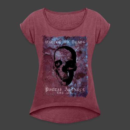 PICTVOD - 1B - Women's T-Shirt with rolled up sleeves