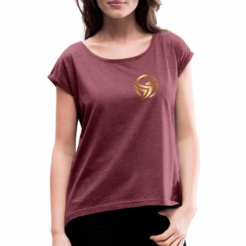 Leverest logo - Frauen T-Shirt mit gerollten Ärmeln