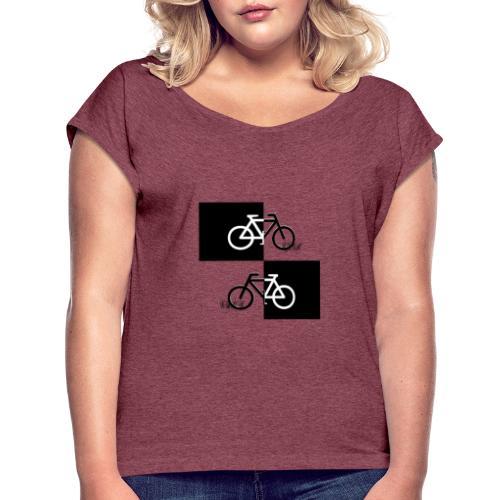 Ich liebe mein Fahrrad T-Shirt für Biker - Frauen T-Shirt mit gerollten Ärmeln