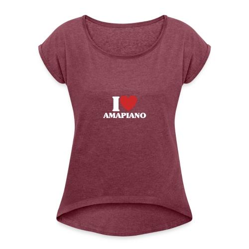 AMAPIANO 02 - Camiseta con manga enrollada mujer