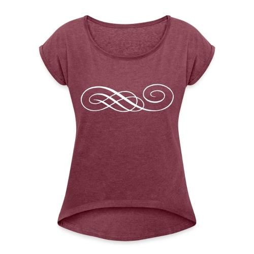 Ghirigoro Qualsivoglia - Maglietta da donna con risvolti