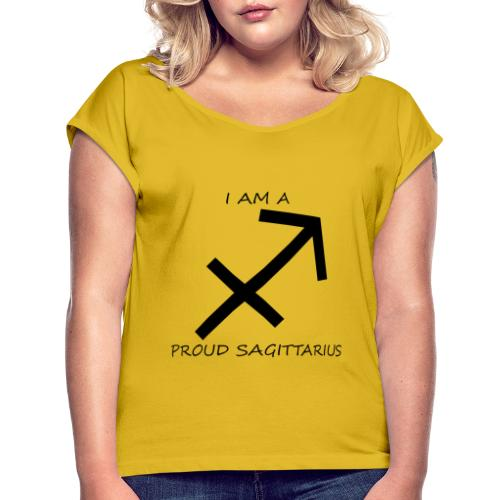 SAGITTARIUS - Women's T-Shirt with rolled up sleeves