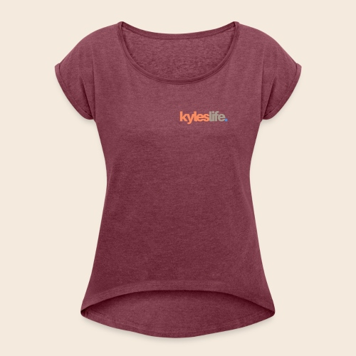 KylesLife. Official Merch - Women's T-Shirt with rolled up sleeves