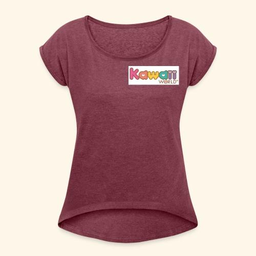 kawaii world - Camiseta con manga enrollada mujer