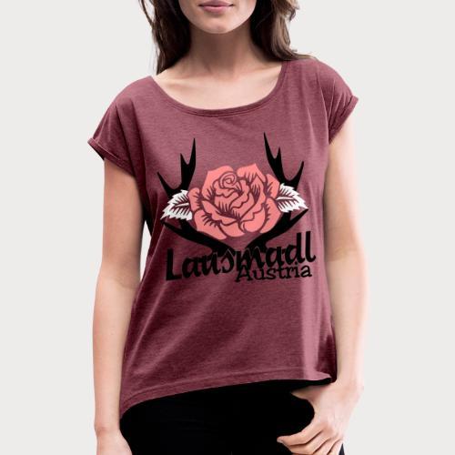 Lausmadl austria - Frauen T-Shirt mit gerollten Ärmeln