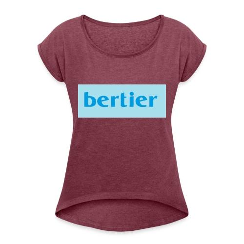 bertier - Maglietta da donna con risvolti