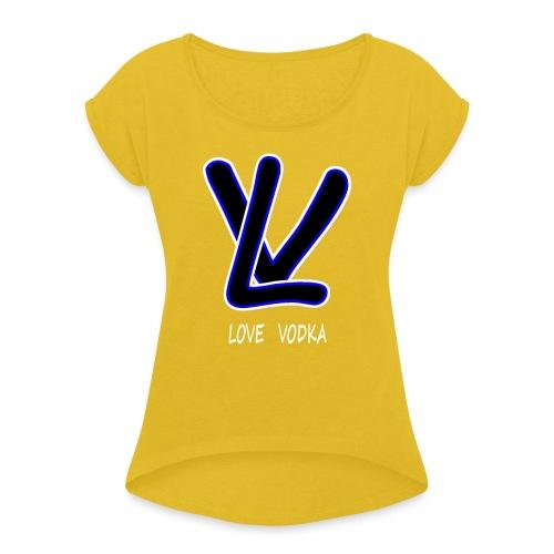LOVE VODKA - T-shirt à manches retroussées Femme