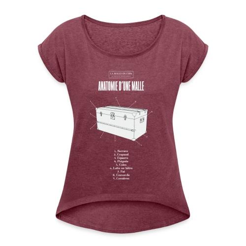 Tshirt La Malle en Coin ok - T-shirt à manches retroussées Femme