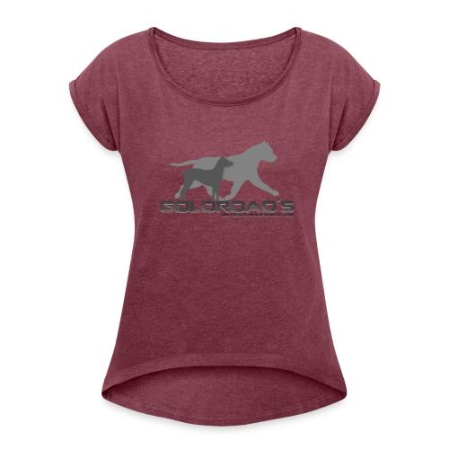 Goldroads - T-shirt med upprullade ärmar dam