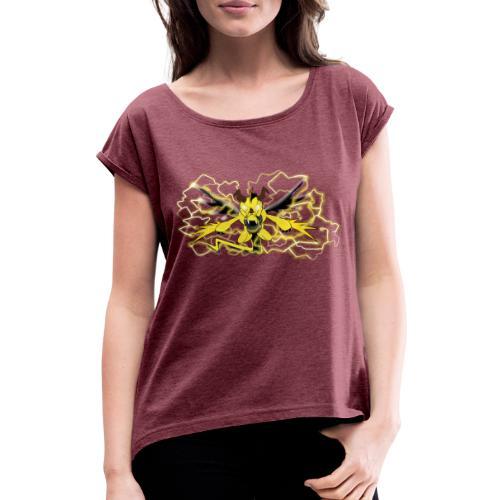 Fulgur il drago elettrizzante - Maglietta da donna con risvolti