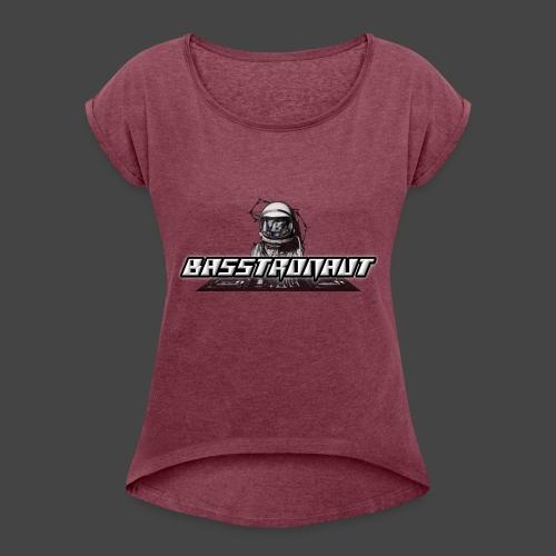 Bassphemie - Basstronaut Logo - Frauen T-Shirt mit gerollten Ärmeln