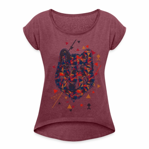 Bad Wolf - Women's T-Shirt with rolled up sleeves