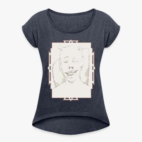 smile - Maglietta da donna con risvolti