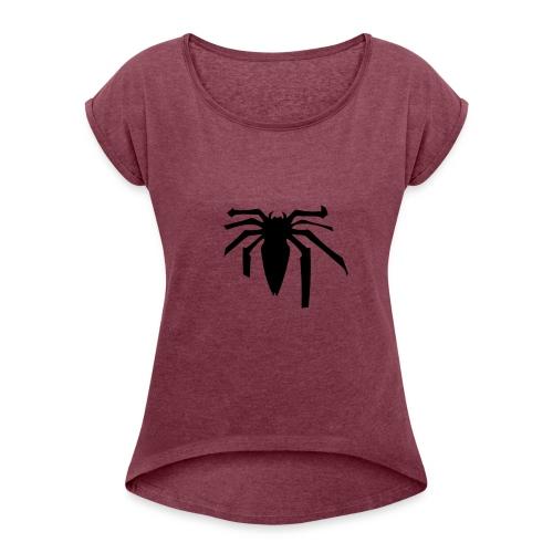 Black spider - T-shirt à manches retroussées Femme