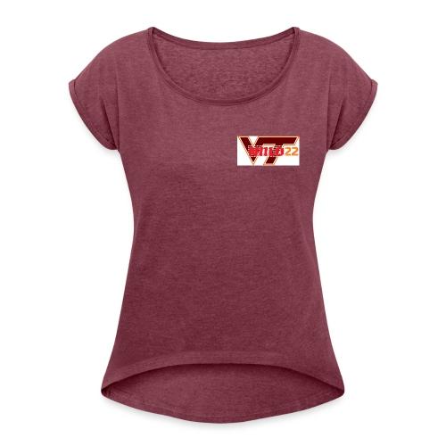 niilo22VT - Naisten T-paita, jossa rullatut hihat
