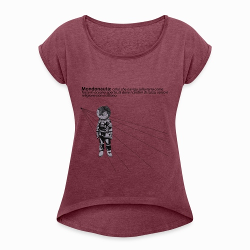 Mondonauta - Maglietta da donna con risvolti