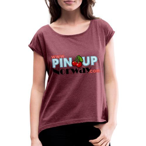 www.pinupnorway.com - T-skjorte med rulleermer for kvinner