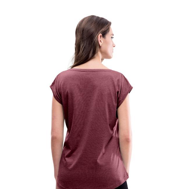 T-shirt à manches retroussées Femme Uni up