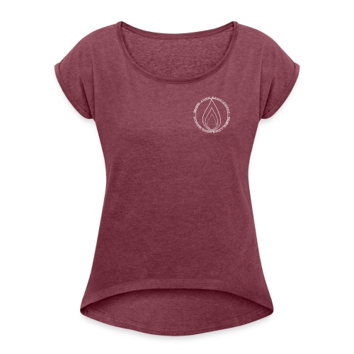 Fireabend - Frauen T-Shirt mit gerollten Ärmeln