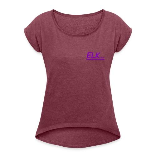 ELK.co - Vrouwen T-shirt met opgerolde mouwen