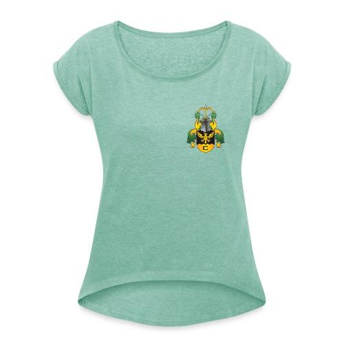 Vaakuna - Naisten T-paita, jossa rullatut hihat