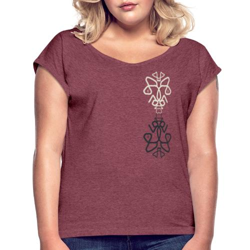 Mandala piece - Women's T-Shirt with rolled up sleeves