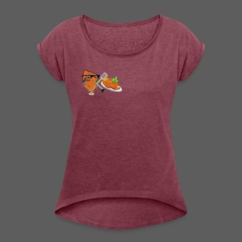 Cooking Snitchl - Frauen T-Shirt mit gerollten Ärmeln