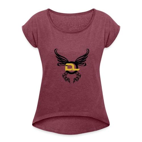 DL 2 - T-shirt med upprullade ärmar dam